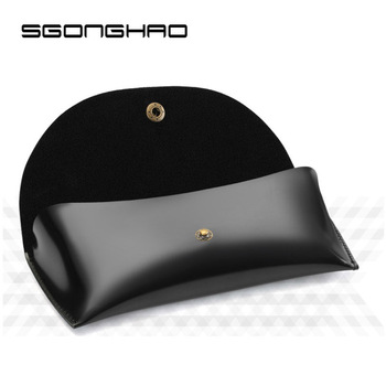 SGONGHAO Leather Professional Glasses Case Vintage Button Sunglasses Eyeglasses Storage Holder Retro Box Case